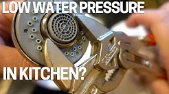 Low Water Pressure/Flow Kitchen Faucet - Easy Fix
