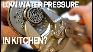 low water pressure flow kitchen faucet easy fix