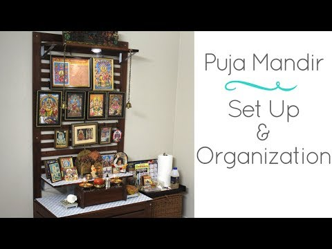 Home Puja Mandir In US- Ikea Hack For DIY Home Temple Set up & Organization