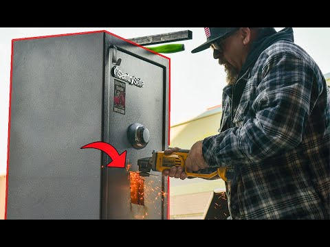CUTTING OPEN GUN SAFE - Great way to end 2020..