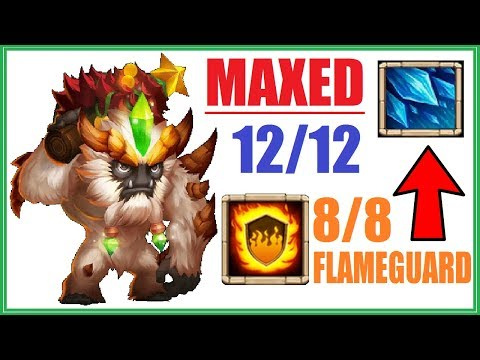 PERMASTUN With Sasquatch 12/12? FLAMEGUARD 8/8 Gameplay Castle Clash