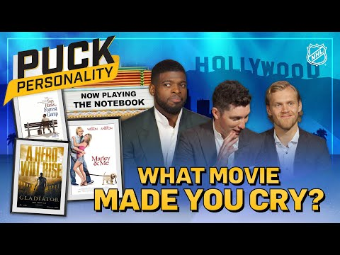 NHL Stars Reveal The Last Movie That Made Them Cry | Puck Personality | NHL