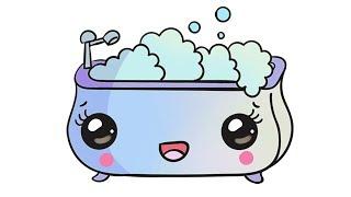 How to draw cute bath II