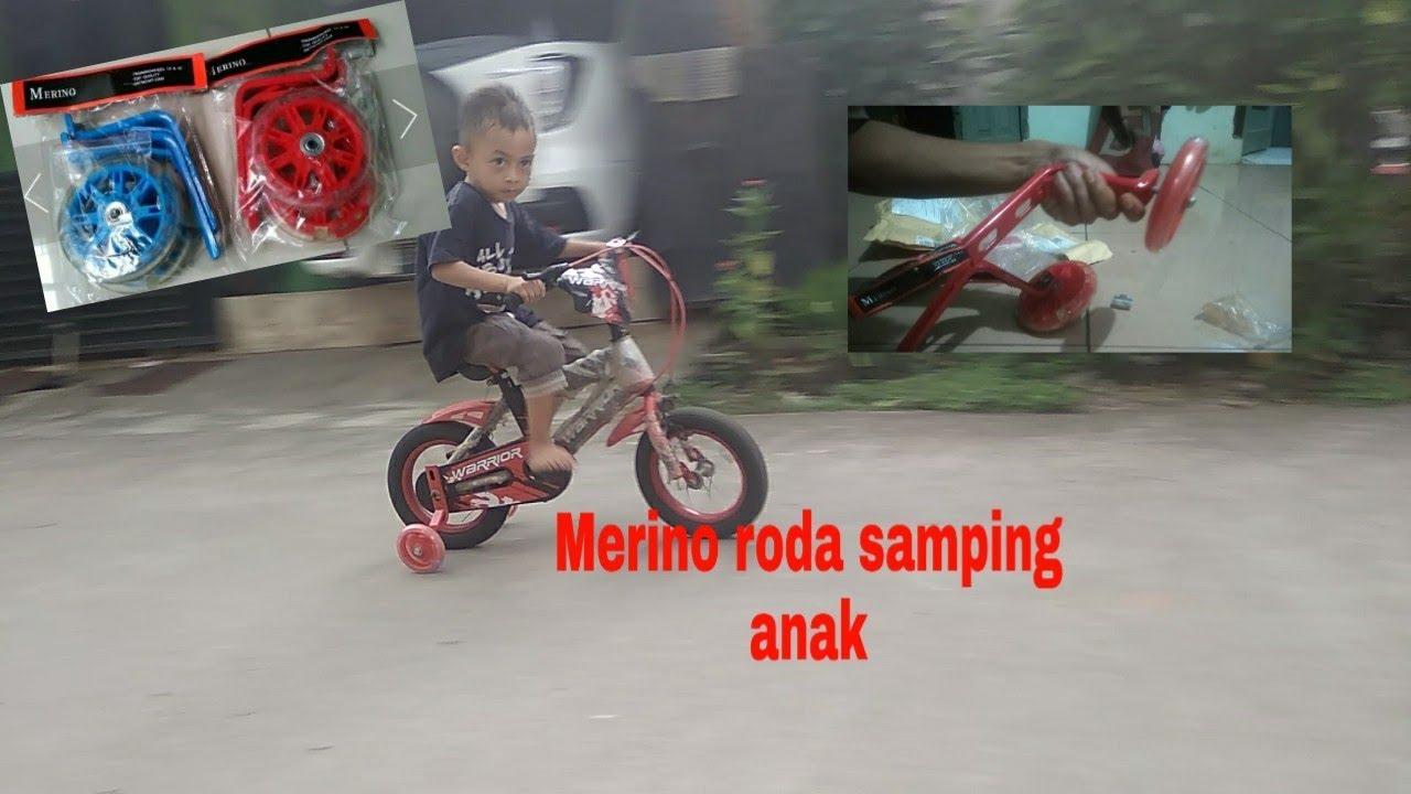 Merino roda tiga samping sepeda anak - YouTube