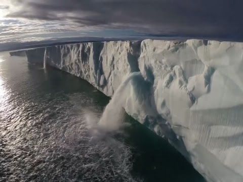 Drone Video Captures Melting Ice Sheets