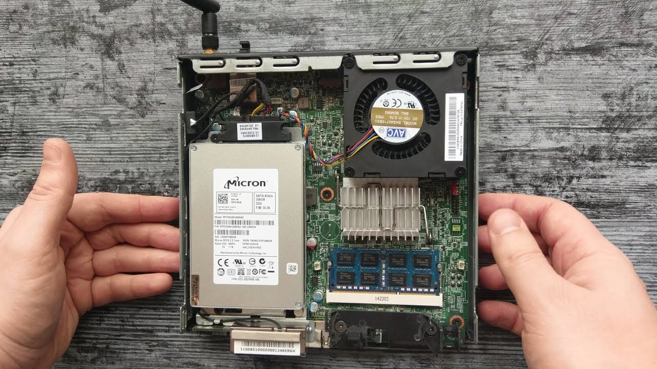 Mini-PC Lenovo ThinkCentre Tiny (Review, disassembly, inside) 2018