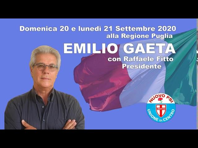 Emilio Gaeta - Regionali Puglia 2020