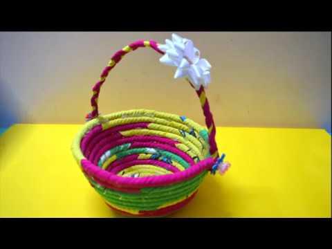 Best Out Of Waste Rope Basket | Simple Method To Make Basket | Art N Craft | Nidhi Jain