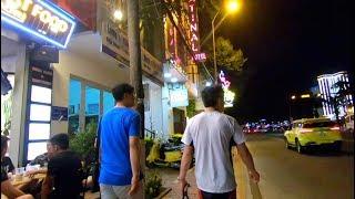 The Nightlife Street Scene in Da Nang, Vietnam