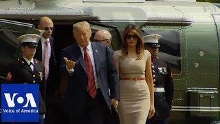 Trump arrives in London thumbnail