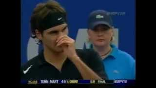 Federer concedes a Match Point without arguing - TMC Houston 2004