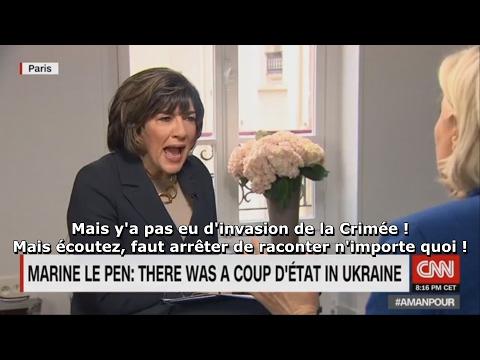 Accrochage entre Marine Le Pen et Christiane Amanpour sur la Crimée (CNN, 01/02/17)