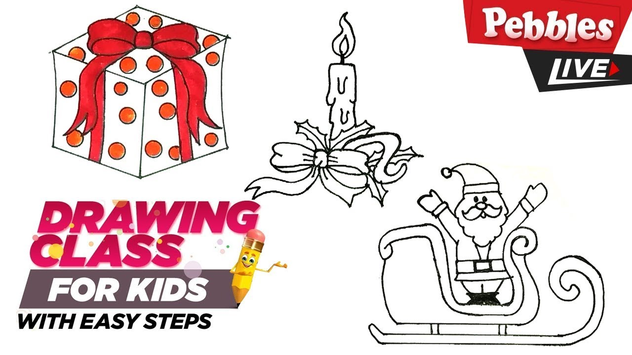 Christmas drawing ideas easy Collection-5 | Step by Step ...