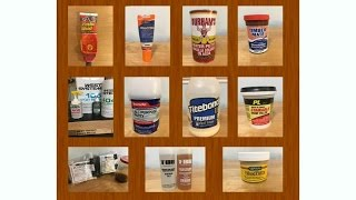 Wood Filler & Epoxy SHOWDOWN - 11 products