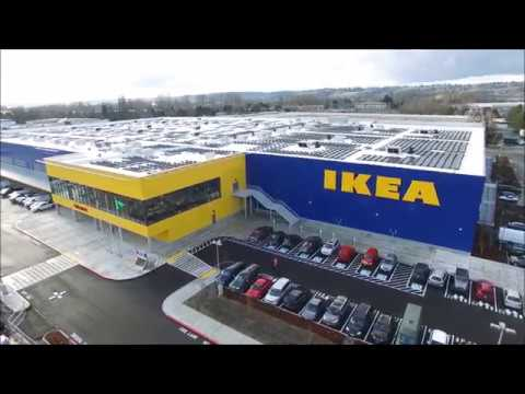 Ikea goes solar in renton washington youtube for Ikea seattle ameublement renton wa