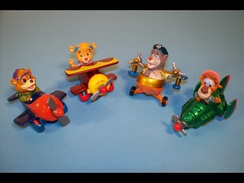 1989 McDONALD'S DISNEY'S TAIL SPIN SET OF 4 DIECAST MINI FIGURINES HAPPY MEAL TOY