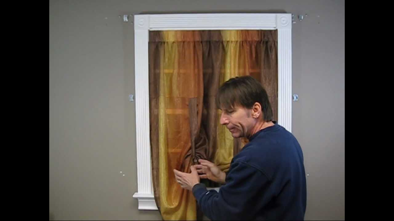 How To Install A Tie Up Curtain YouTube