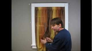 How to Install a Tie-up Curtain