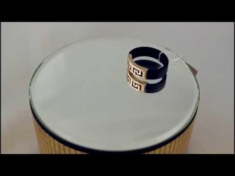 Золотое кольцо 585 проба. Кольцо золотое с каучуком. 900619