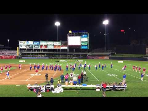Lakeland Junior Senior High School Band and Drill Team PNC Field 2017 Clip 1