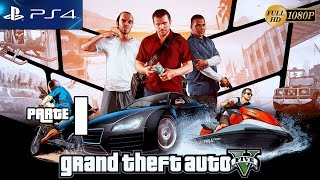 Grand Theft Auto 5 GTA V PS4 Gameplay Español Parte 1 Prologo Misión 1,2,3,4,5 Walkthrough XboxOne