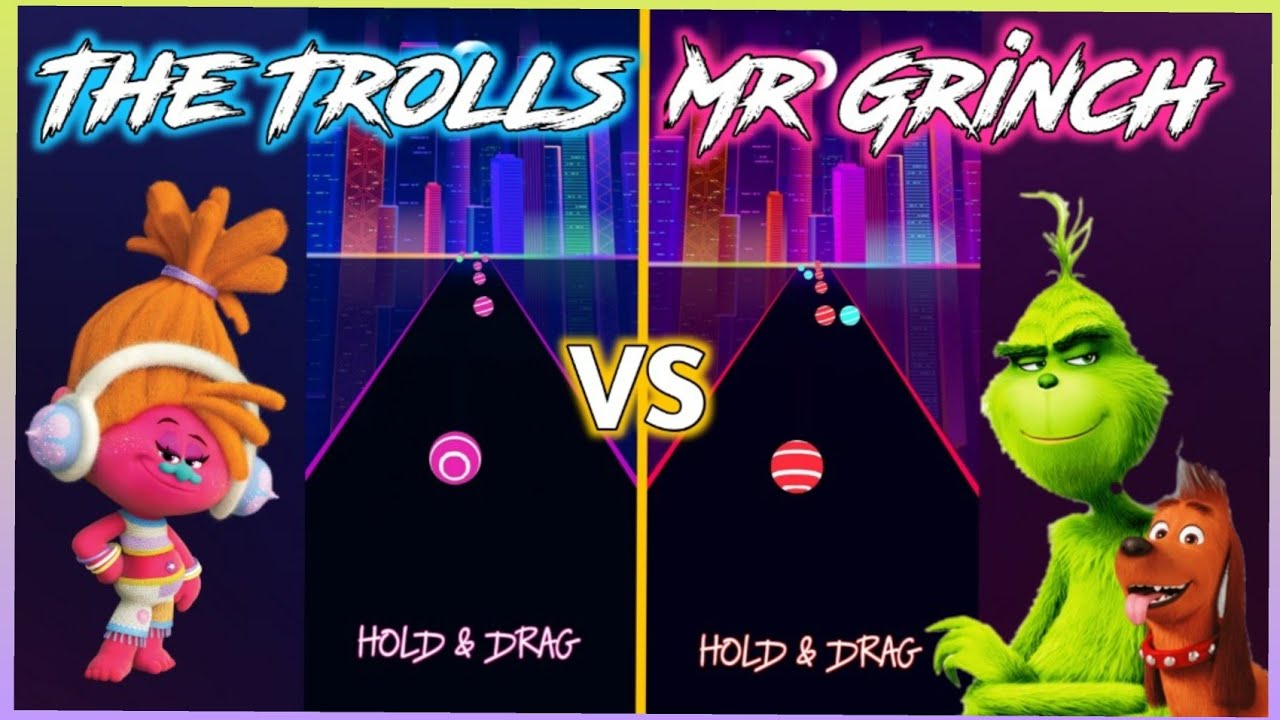 Road EDM Dancing - Can't Stop The Feeling - Trolls VS The Grinch Song   V Gamer