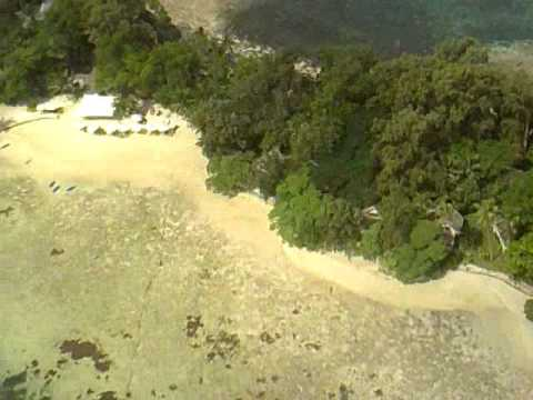Helicopter ride over Port Vila, Vanuatu