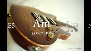 Am Blues Rock Guitar Backing Track
