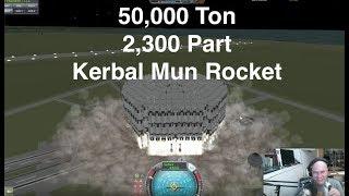 50,000 Ton, 2300 Part Rocket To Mun