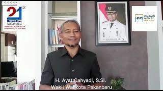 Ucapan Selamat Ulang Tahun Haluan Riau ke-21 dari Wakil Walikota Pekanbaru