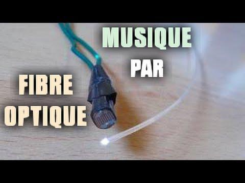 Transmettre de la musique par fibre optique (méthode analogique)