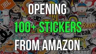 OPENING 100+ STICKERS FROM AMAZON