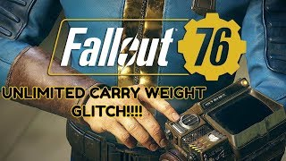 Fallout 76 - UNLIMITED CARRY WEIGHT GLITCH (Tutorial) (2018)