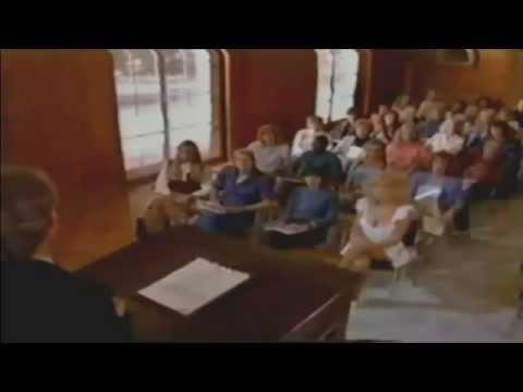 Judy Landers and Vickie Fredrick Stewardess School 1986 podium
