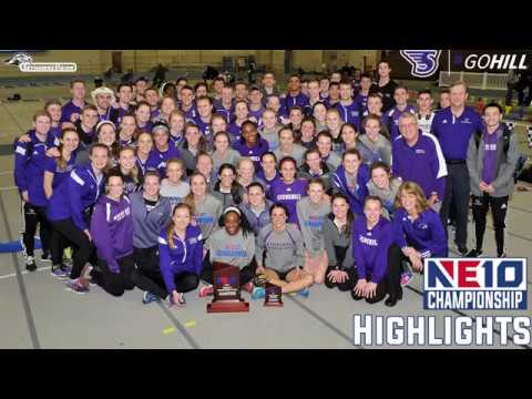 Stonehill College Indoor Track and Field Team at NE10 Championship Highlights