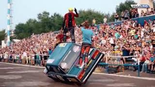 Оренбург. Экстрим-шоу каскадеров на стадионе