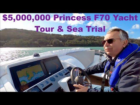 $5,000,000 Princess F70 Yacht Tour & Sea Trial