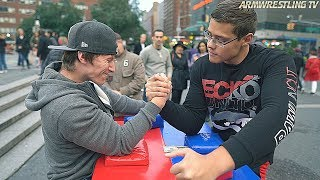 ARM WRESTL NG AT UN ON SQUARE NYC