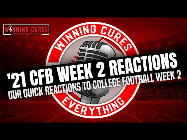 9/12 College Football Week 2 Reaction! Florida State, Oregon vs Ohio St, CyHawk and more...