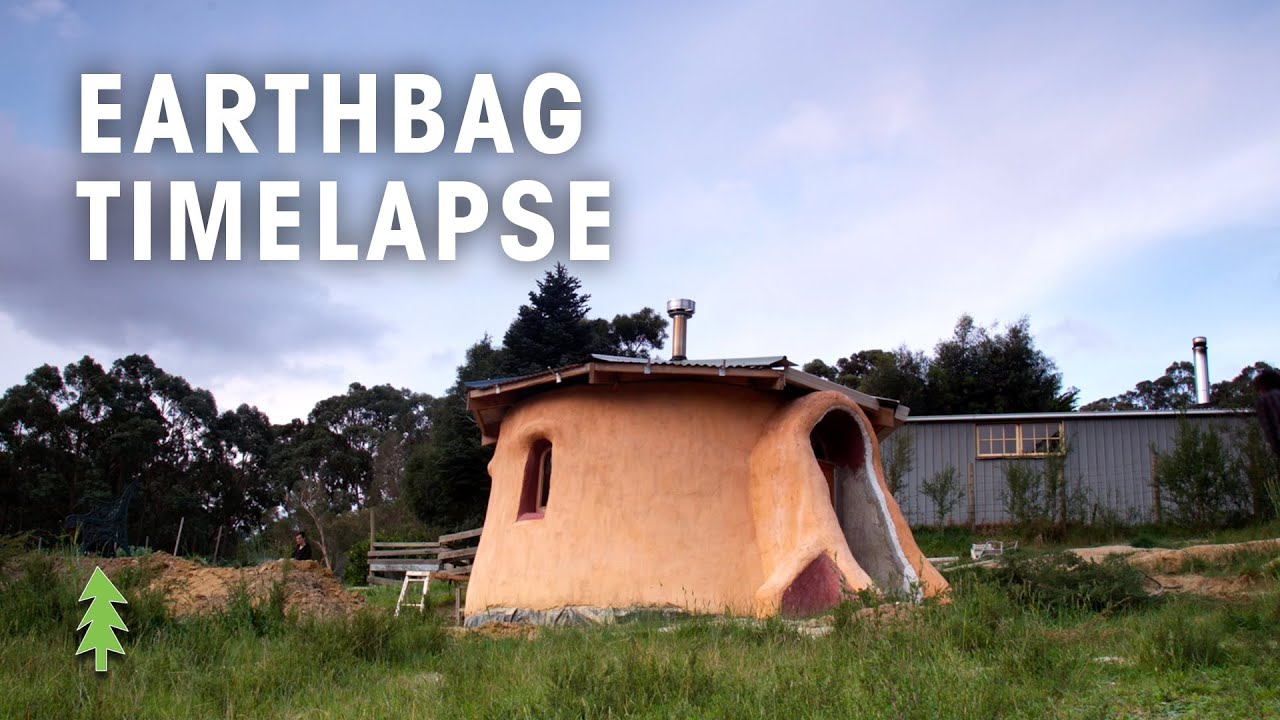 Time Lapse Of Earthbag Tiny House Construction Youtube