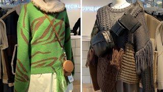 Мода по японски трикотаж свитера жилеты кардиганы бижутерия и обувь Шоппинг тур из Токио