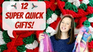 12 Super Quick Gifts: Holiday Edition!
