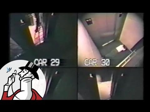 Surveillance footage of a man trapped in an elevator for 41 hours