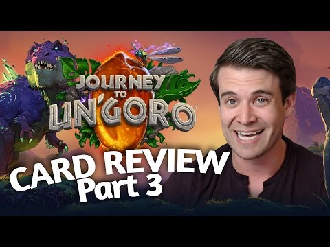 (Hearthstone) Journey To Un'Goro: Card Review Part 3 - Hunter, Druid, Warrior