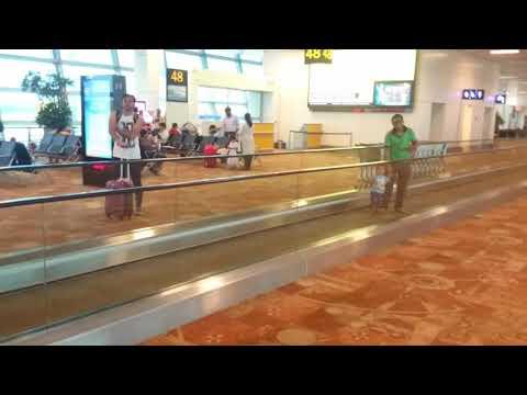 This is what happens when flight delays.. Vihan enjoying at Delhi airport...
