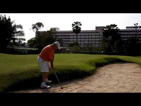 9th Hole ZZ Bunker Shot Asia Pattaya Golf Course Thailand