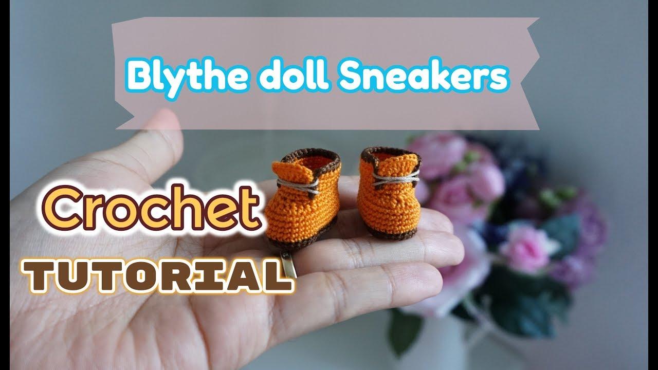 Crochet Amigurumi Doll (Part 1) Crochet Doll Shoes / Sneakers ... | 720x1280