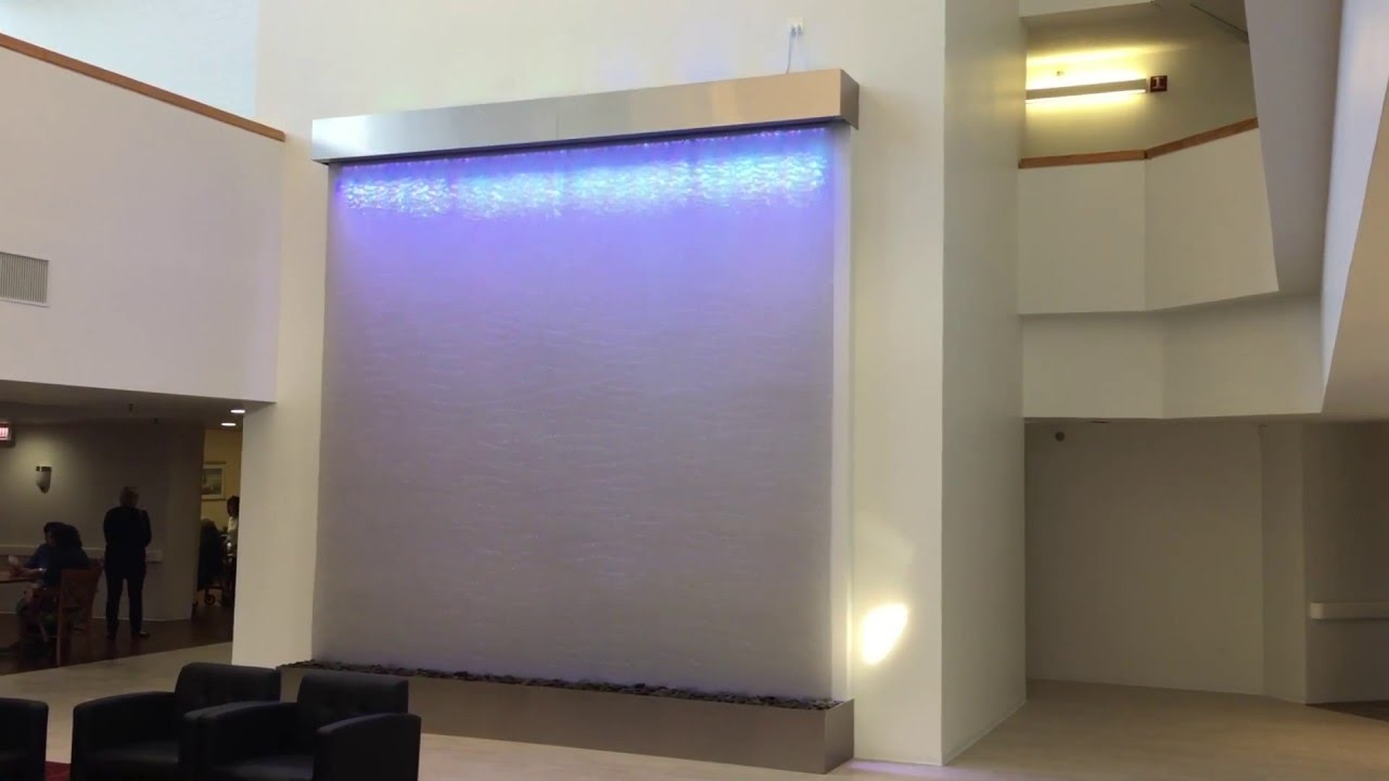 Custom Mesh Water Wall Waterfall Curtain-Huge Indoor Cascading Water ...