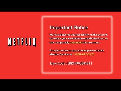 Netflix tech support scam