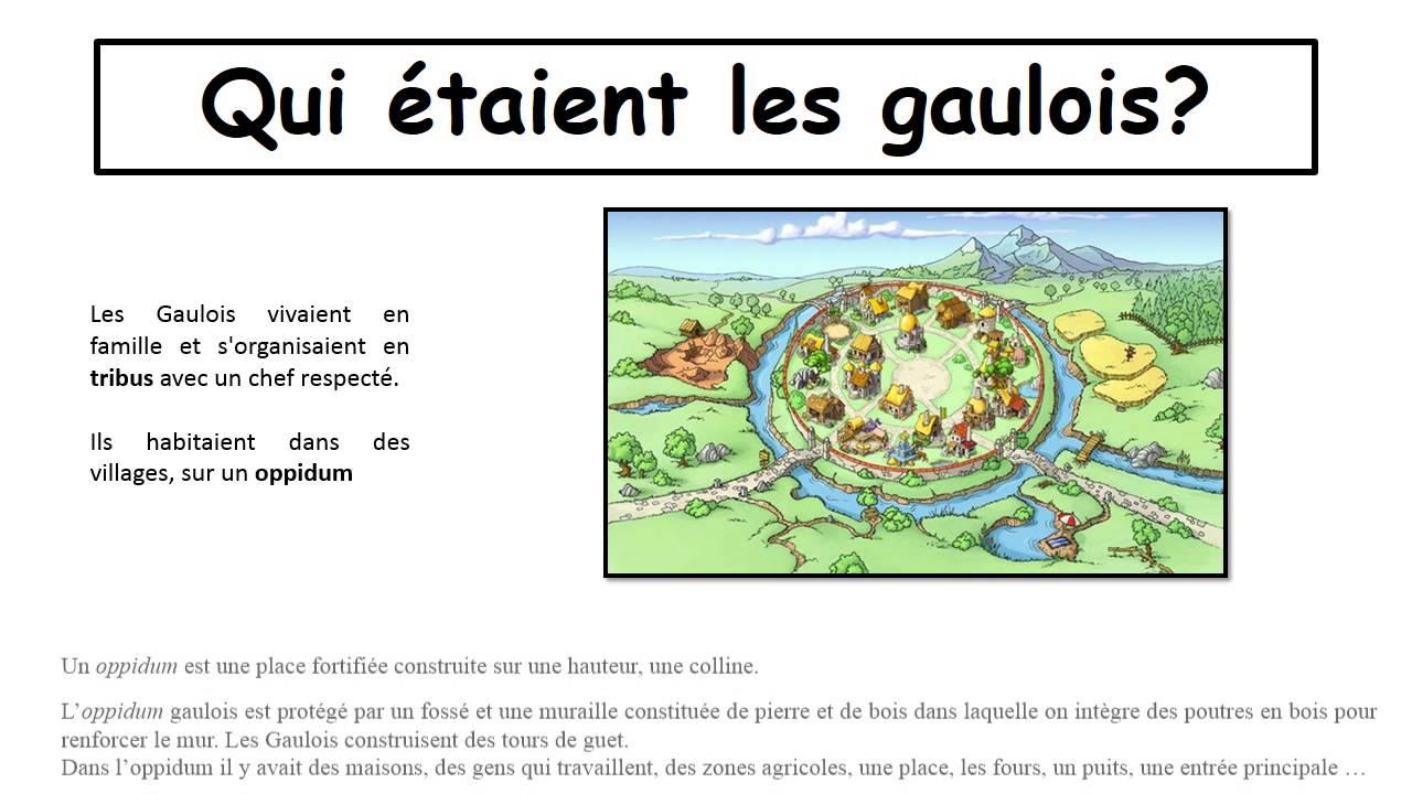 Vie Des Gaulois Ce2 Antiquite Diaporama Tbi Youtube